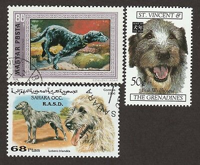 IRISH WOLFHOUND ** Int'l Dog Stamp Collection ** Great Gift Idea*