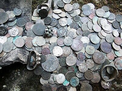 HOARD  460 medieval coins