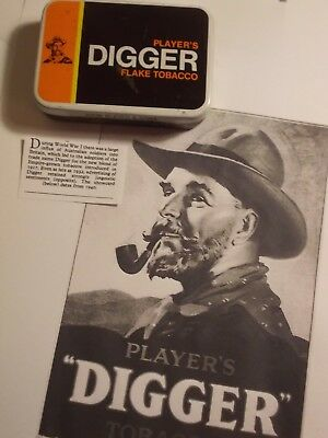 Old Empty Players DIGGER  2oz. Tobacco Picture Tin. VG