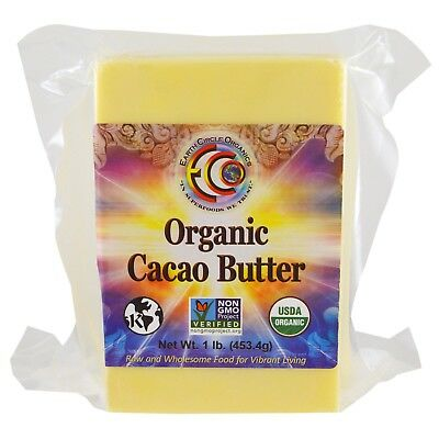 Raw Cocoa Butter - Organic  Unrefined Cacao 453,4 g -  Pure Natural Raw Food an