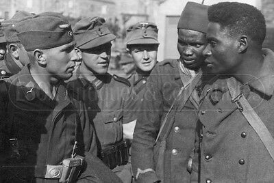 WWII German soldiers and Africans WW2 Luftwaffe Wehrmacht photograph photo WW2