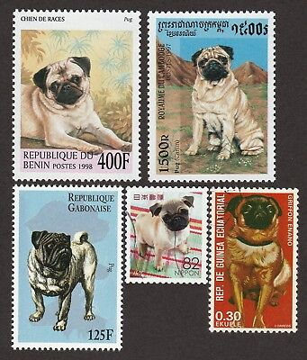 PUG **int'l Dog Postage Stamp Collection  **Great Gift Idea**