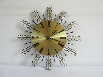 Super Vintage Retro 60's/70's Junghans Quartz Starburst/ Sunburst Wall Clock
