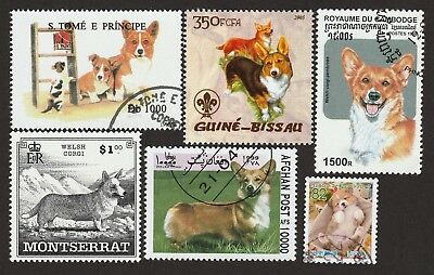 WELSH CORGI  ** Int'l Dog Postage Stamp Collection**Great Gift Idea **