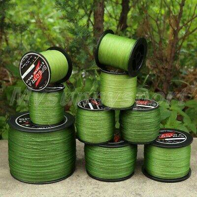NEW Army Green 300-1000M Powerful Spectra Braided Line Sea Fishing Line UK STOCK