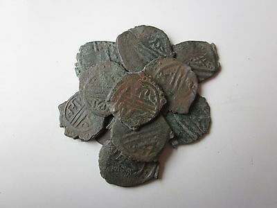 lot of 11 rare copper coins medieval Turkish period - manger