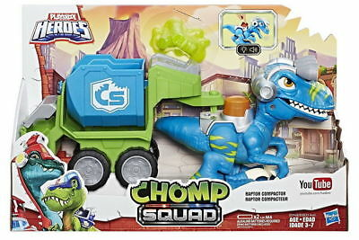 Playskool Heroes Chomp Squad Raptor CompactorDinosaurs Lights and sounds