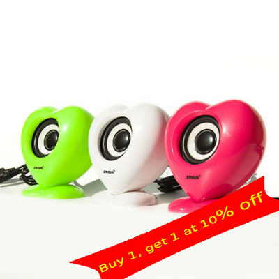 1 Pair Mini Speaker USB Music Player for Computer Desktop PC Laptop Notebook lot