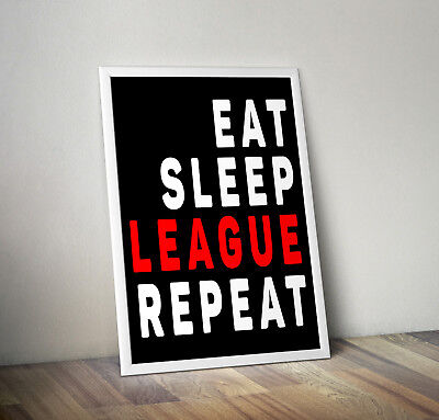 League of Legends inspired moba poster print wall art gift wall art gaming