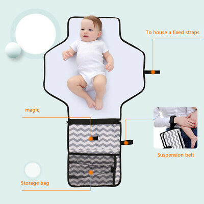 Portable Nappy Changing Mat Waterproof Travel Diaper Changing Pad with Pocket AU