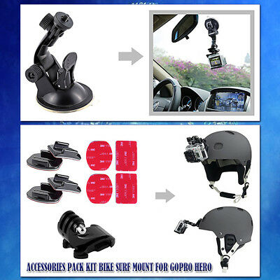 160Pcs Accessories Pack Kit Chest Monopod Bike Surf Mount for GoPro Hero 6 5 4 3
