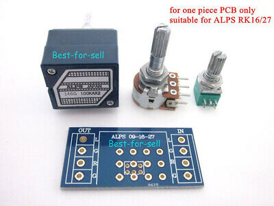 10pc Gold plated stereo Volume potentiometer PCB for ALPS RK 27 16