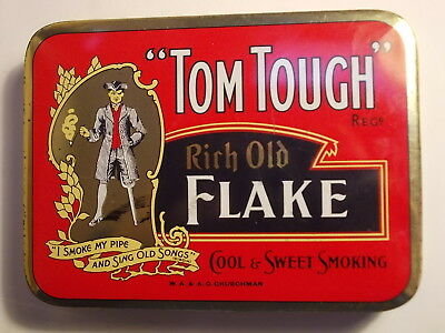 Old Empty TOM TOUGH 1lb. Tobacco Picture Tin. VG