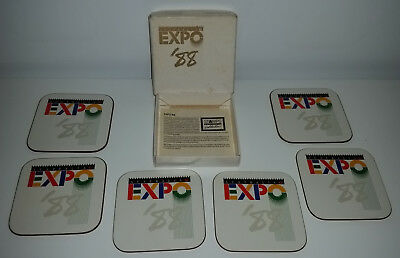 EXPO 88 set of 6 boxed coasters Brisbane collectables