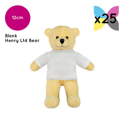 25 Limited Edition Henry Bear With Blank T-Shirt Ideal For Transfer Sublimation