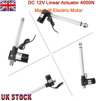 High Power 12V DC Linear Actuator 4000N/407kg Force Low Noise Electric Piston BS