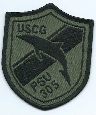 United Staters Coast Guard (USCG) patch PSU 305 3-5/8 X 3 in black & olive