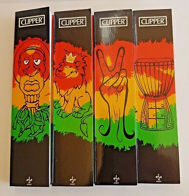 New 4 Booklets Clipper Rolling Papers 32 Leaves+Tips King Size Ultra Thin Paper
