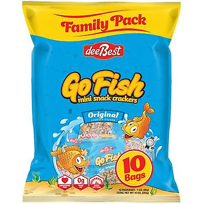 Dee Best Go Fish Mini Snack Crackers Original 10Pack 29Gr