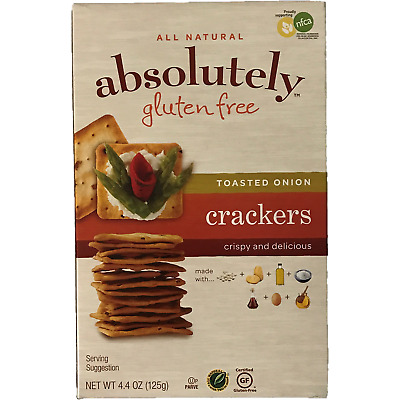Absolutely Gluten Free Onion Crackers Klp 125G