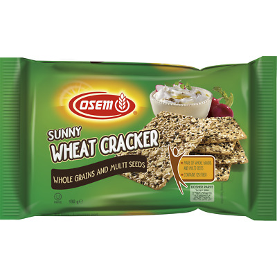 Osem Sunny Wheat Whole Grains And Multi Seeds Cracker 190G
