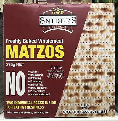 Sniders Wholemeal Matzot 375G