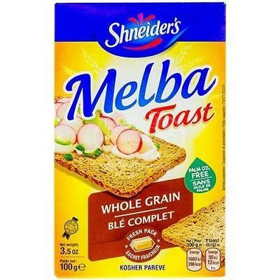 Shneiders Melba Toast Whole Grain 100G