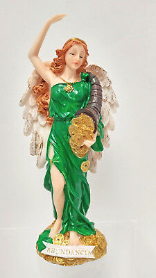 Angel De La Abundancia- Lady Of Abundance - Goddess Of Fortune & Luck Statue