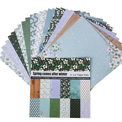 24Pcs 6 Inch DIY Album Scrapbooking Planner Card Making Background Paper New Hot