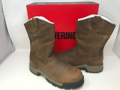 44fad9836d7 NEW! WOLVERINE MEN'S Gear Pull On CT Waterproof Boots Brown W10152 W16 az