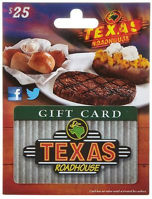 Texas Roadhouse Gift Card Traditional, Redeemable Any 350+ Locations Nationwide