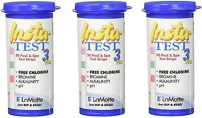 3x Insta-Test 3 Plus, Swimming Pool and Hot Tub Test Strips (50 Strips)