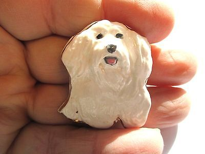 Vintage Hand Made and Hand Painted West Highland Terrier Dog Pin