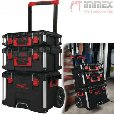 Milwaukee PACKOUT™ Koffer + Trolley Set 3 Kisten Werkzeugkoffer 4932464244