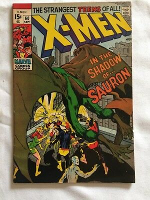 X-Men In The Shadow Of Sauron #60 (Marvel September 1969) Last One