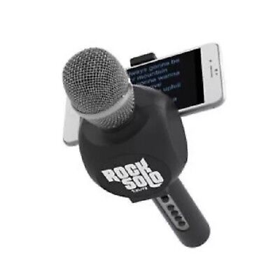 NIB Tzumi Rock Solo Karaoke Mic Bluetooth Built-in Smartphone Holder BLACK NEW
