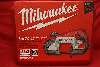 Milwaukee 6232-21 Portable Deep Cut Variable Speed Band Saw Kit