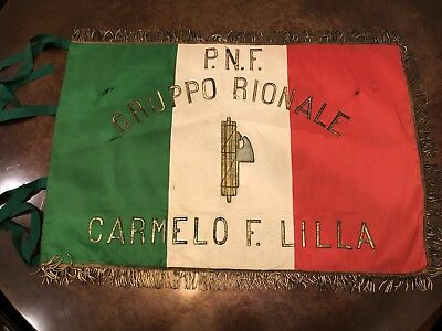 WWII Italian Fascist Party Flag Banner