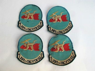 Set of four 391th TAC FTR SQ patches - theater made