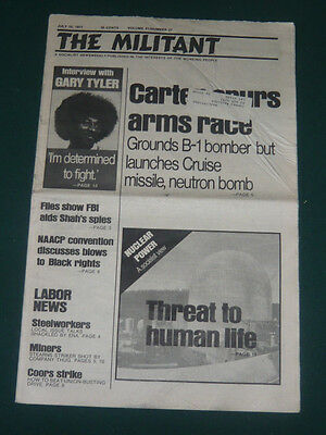 The Militant newspaper/July 15 1977/Carter Arms Race/FBI & SAVAK/NAACP/Brazil