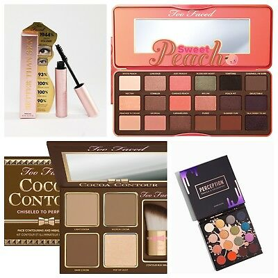 Too Faced Better Than Sex Mascara Sweet Peach Eyeshadow Palette Cocoa Contour