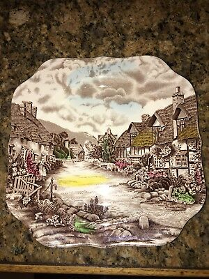 JOHNSON BROTHERS china OLDE ENGLISH COUNTRYSIDE - Multicolor Square Salad Plate