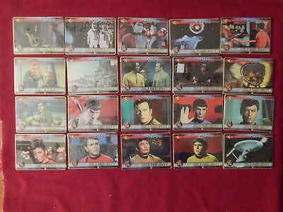 Set Of Star Trek The Original Series Metal Trading Cards Metallic Impressions 96