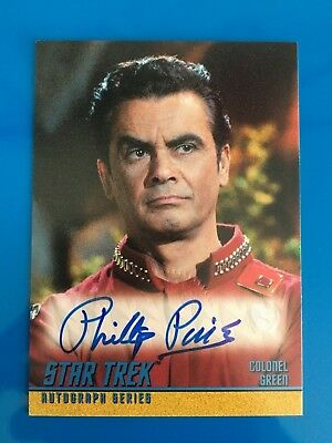 1999 Skybox Star Trek Autograph Signature Auto Card Colonel Green Phillip Pine