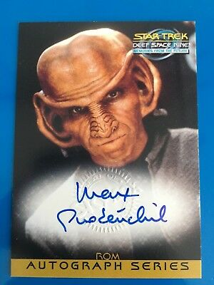 1999 Skybox Star Trek Autograph Signature Auto Card Max Grodenchik As Rom Space