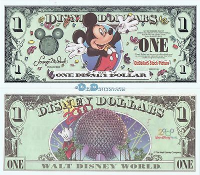 2000 $1 A MINT UNCIRCULATED Millennium MICKEY Disney Dollar Disneyland Dollars