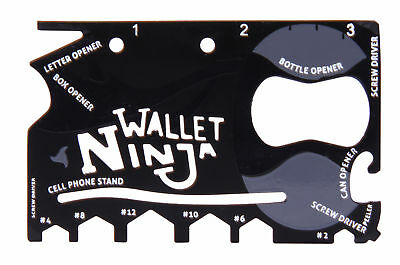 thumbsUp! Wallet Ninja 18 in 1 Credit Card Multi-tool
