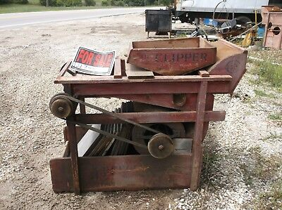 A T FERRELL CLIPPER no 1B FANNING MILL SEED CLEANER with 10+ SCREENS