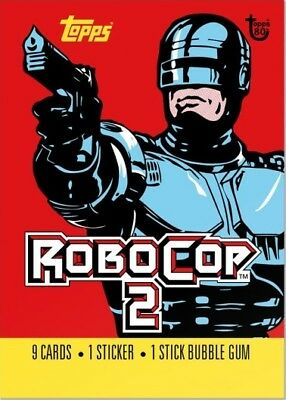 2018 Topps 80th Anniversary Wrapper Art Card #70 - 1990 RoboCop 2