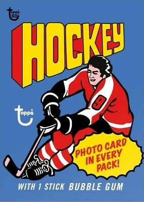2018 Topps 80th Anniversary Wrapper Art Card #72 - 1976 Hockey